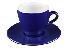 Tasse bleue de thé et de café photos libres de droits