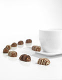 Tasse brun chocolat et de café Photo stock
