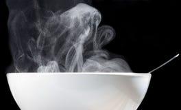 Tasse chaude de soupe Images libres de droits
