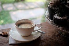 Tasse d'americano de café, matin de café Image libre de droits