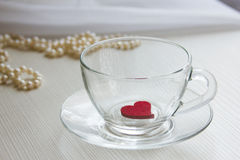 Tasse d'amour Photo stock