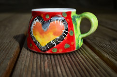 Tasse d'amour Photos stock