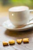 Tasse d'amour de café chaude Photos libres de droits