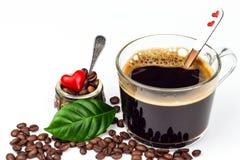 Tasse d'expresso sur le fond blanc Tasse d'americano de café Boisson chaude pour la santé Images stock