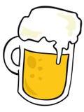 Tasse de bière. Image libre de droits