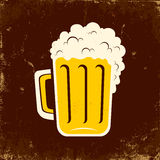 Tasse de bière Images libres de droits
