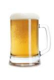 Tasse de bière avec la mousse photo libre de droits
