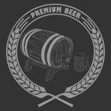 Tasse de bière, baril Photographie stock libre de droits