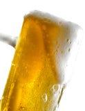 Tasse de bière sur le fond d'isolement Photo stock