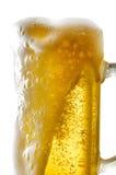 Tasse de bière sur le fond d'isolement Photographie stock