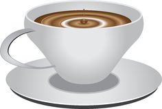 Tasse de blanc de vecteur Photo stock