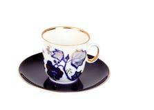 Tasse de bleu de coffe de Cina Photos libres de droits