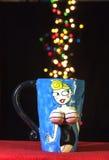Tasse de bleu de Madame Photos libres de droits
