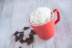 Tasse de boisson de chocolat chaud d'hiver Photos libres de droits