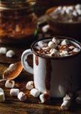 Tasse de cacao avec la guimauve Image libre de droits