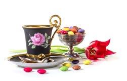 café avec des sucreries Images stock
