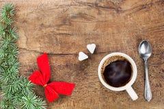 Tasse de café avec la décoration IV de Noël Photo stock