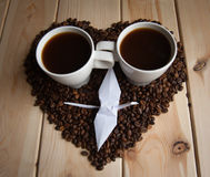 Tasse de café avec la grue Photo stock