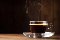 Tasse de café avec la vapeur Photo stock