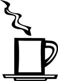 Tasse de café blanc Photographie stock libre de droits