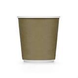 Tasse de café brune en plastique Image libre de droits
