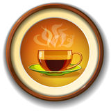 Tasse de café chaud, verre, vecteur Photographie stock