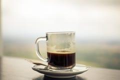 Tasse de café d'americano dans un caffe Image libre de droits