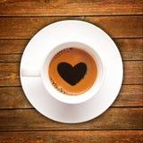 Tasse de café d'amour Photos libres de droits