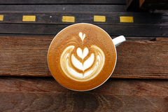 Tasse de café d'art de latte image stock