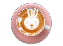 tasse de café d'art de latte de lapin Photos libres de droits