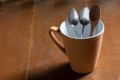 Tasse de café de cuillère Photo libre de droits