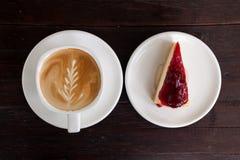Tasse de café de latte images stock