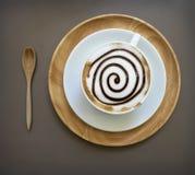 Tasse de café de moka sur la table en bois Image stock