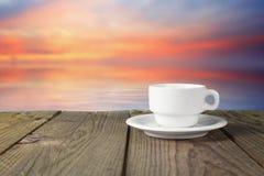 Tasse de café de paysage Images stock