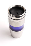 Tasse de café de thermos d'isolement sur le blanc photos stock