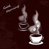 Tasse de café de tige et de haricots Photos stock