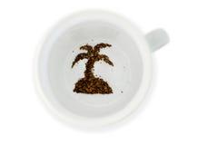 Tasse de café - fortune indiquant des vacances Photos stock