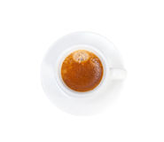 Tasse de café italienne d'expresso d'isolement sur le blanc image libre de droits