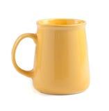 Tasse de café jaune Photo libre de droits