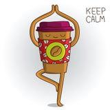 Tasse de café mignonne et interdite Images libres de droits