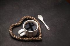 Tasse de café noir pour des amants de café Image libre de droits