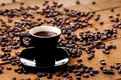 Tasse de café noire image libre de droits