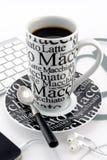 Tasse de café noire et blanche Photos libres de droits