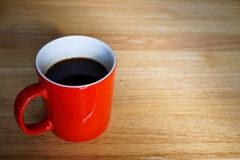 Tasse de café rouge Photo stock