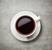 Tasse de café sur la table grise Photos stock