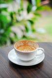 Tasse de café vide de cappuccino Photos stock