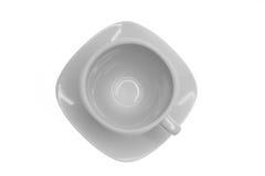 Tasse de café vide, première vue Image libre de droits