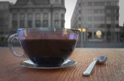 Tasse de caf? dans le caf? - style de vintage rendu 3d illustration stock
