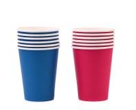 Tasse de café de papier colorée. Images stock