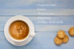 Tasse de cappuccino Photographie stock libre de droits